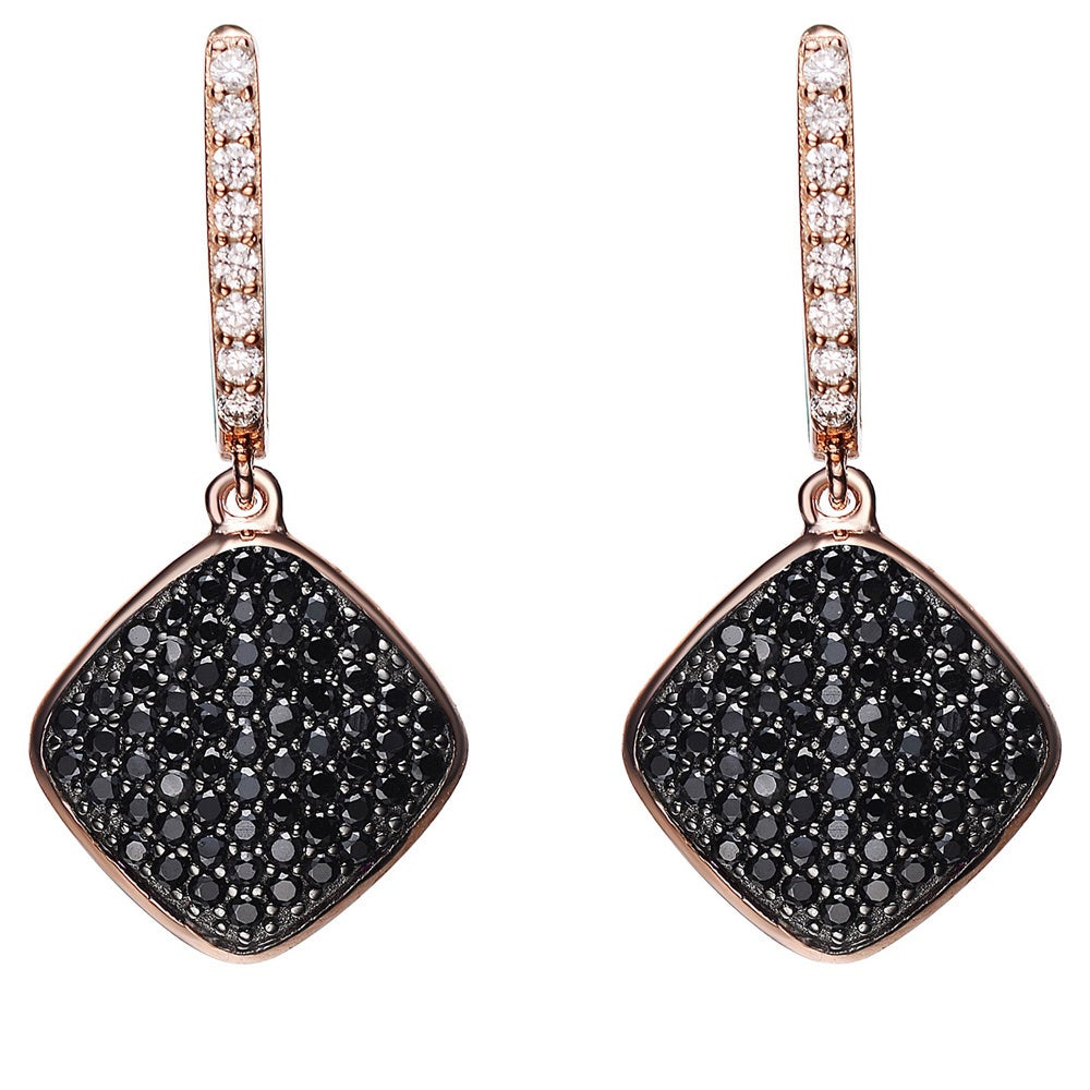 Collette Z Rose and Black Plated Sterling Silver Black Cu...