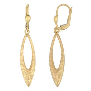 Fremada Women's 14k Yellow Gold Fashion Marquise Dangle Earrings