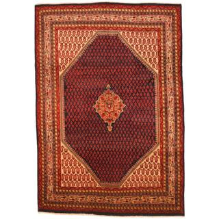 Herat Oriental Persian Hand-knotted Tribal Mir Wool Rug (6'7 x 9'6)