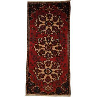 Herat Oriental Persian Hand-knotted Hamadan Wool Rug (5' x 10'10)