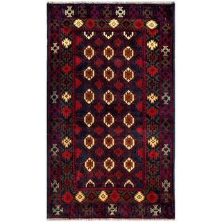 Handmade One-of-a-Kind Balouchi Wool Rug (Afghanistan) - 2'7 x 4'5