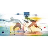 Marmont Hill Art Collective 'Couple Ski' Canvas Art - Multi-color