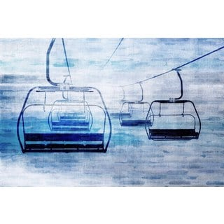 Marmont Hill Art Collective 'Chair Lifts 1' Canvas Art