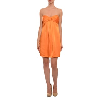 BCBG Maxazria Women's Sassy Mango Strapless Party Dress