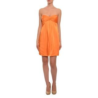 BCBG Maxazria Women's Sassy Mango Strapless Party Dress