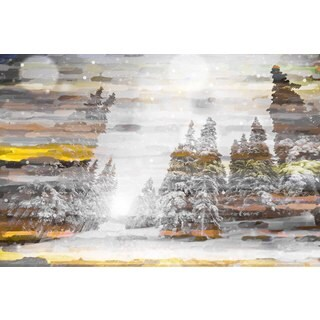 Marmont Hill Art Collective 'Tree Snow 1' Canvas Art