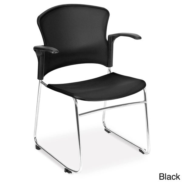 OFM Multi-use Stackable Plastic Arm Chairs (Pack of 40)