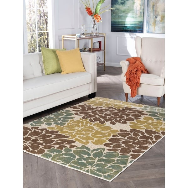 Alise Decora Ivory Transitional Area Rug - 7'10 x 10'3
