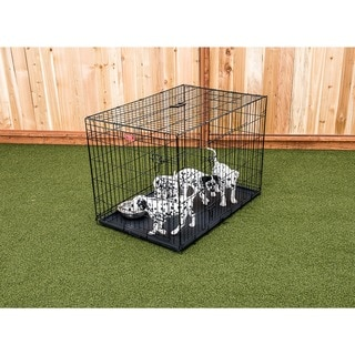 Lucky Dog 2-door Black Wire Pet Crate