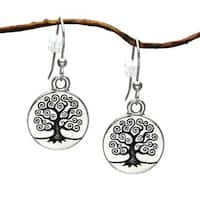Jewelry by Dawn Celtic Pewter 'Tree Of Life' Dangle Earrings - Silver