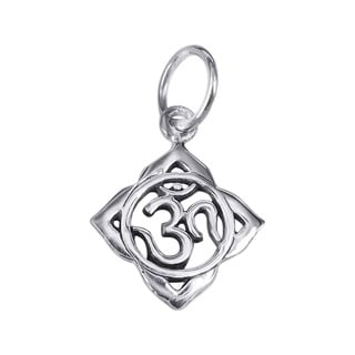 Handmade 16mm Aum Or Om Prayer Sign 925 Silver Pendant Or Charm Thailand