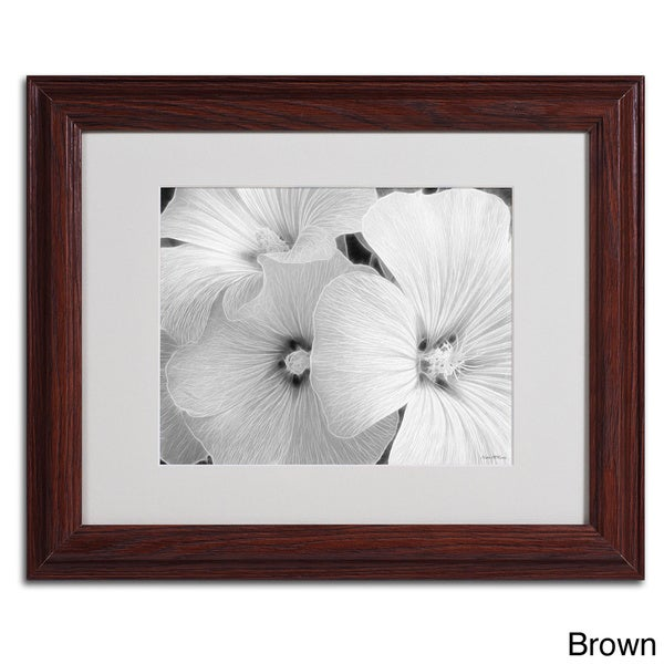 Kathie McCurdy 'Sheer Malva' Framed Matted Art