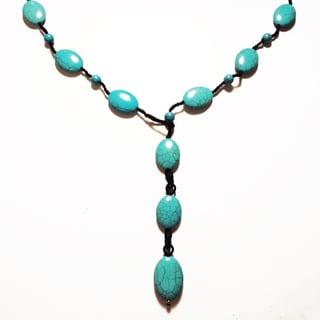 Pavcus Designs Boho-chic Turquoise Magnesite Lariat Y Necklace