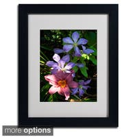 Kurt Shaffer 'Clematis and Lily' Framed Matted Art
