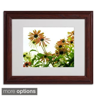 Kathie McCurdy 'Orange Coneflowers' Framed Matted Art