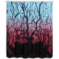 Colorful Deer Forest Shower Curtain