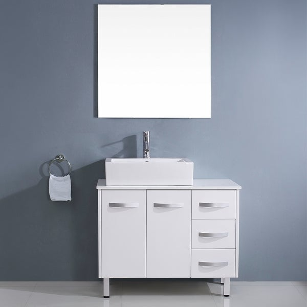 Virtu usa tilda 36 inch white single sink white stone Virtu usa caroline 36 inch single sink bathroom vanity set