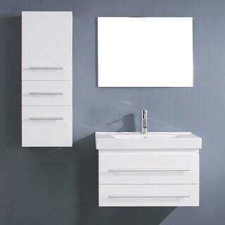 Virtu USA Antonio 29-inch White Single Sink Vanity Set