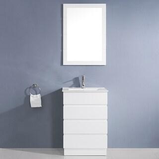 Virtu USA Bruno 24-inch White Single Sink Vanity Set