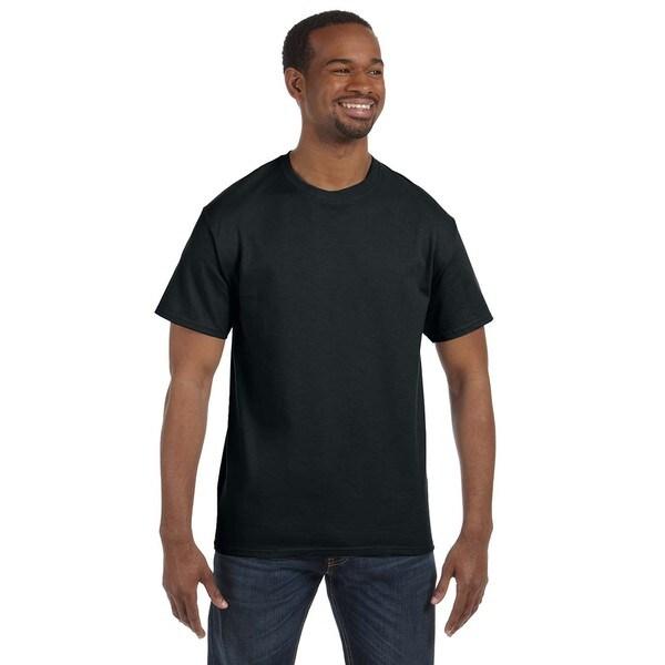 Jerzees Mens Black 50/50 Heavyweight Blend T-shirts (Pack of 9)