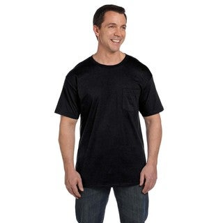 Hanes Men's Beefy-T with Pocket Undershirtw (Pack of 12)