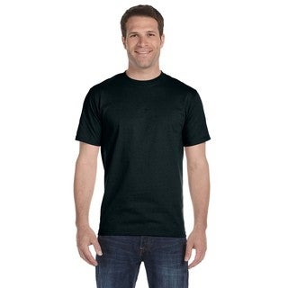 Hanes Men's Beefy-T Black Cotton Undershirts (Pack of 9)