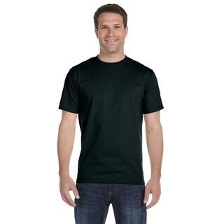 Hanes Men's Beefy-T Black Cotton Undershirts (Pack of 9)
