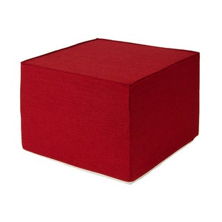 Softblock Very Berry Red 22-inch Foam Outdoor Ottoman
