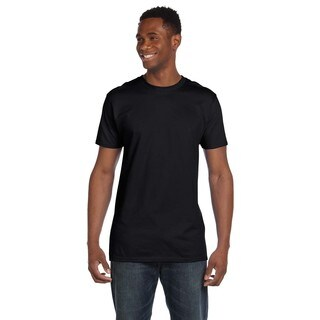 Hanes Men's Black Ringspun Cotton Nano-T Undershirts (Pack of 6) (More options available)