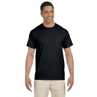 Gildan Men's Black Ultra Cotton Pocket Undershirts (Pack of 12)