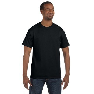 Gildan Men's Black Heavy Cotton Undershirts (Pack of 9)