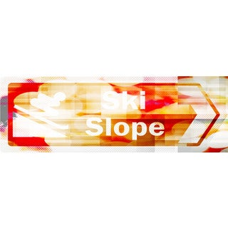 Marmont Hill Art Collective 'Ski Slope' Canvas Art