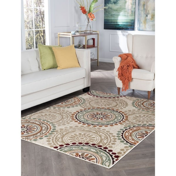 Alise Rugs Decora Transitional Geometric Area Rug - 5'3 x 7'3