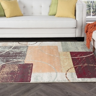 Alise Rugs Decora Contemporary Abstract Area Rug - 7'10 x 10'3