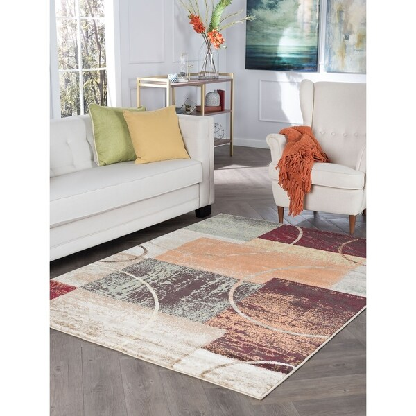 Alise Rugs Decora Contemporary Abstract Area Rug - multi - 5'3 x 7'3