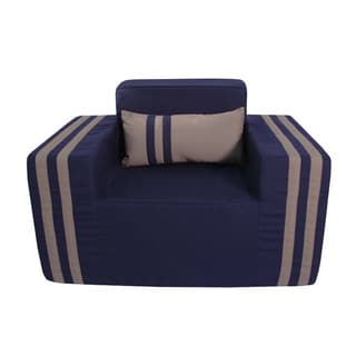 Softblock Kids' Navy Indoor/Outdoor Foam Chair