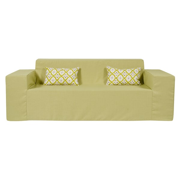 Superieur Softblock Sage Indoor/Outdoor Foam Sofa
