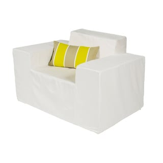 Delicieux Softblock White Indoor/Outdoor Foam Chair