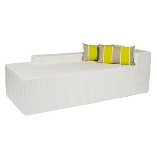 Softblock White Indoor/Outdoor Foam Chaise