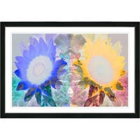 Studio Works Modern 'Dora and Dana Floral' Framed Fine Art Print