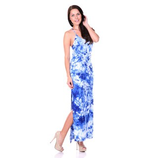 White Mark Women's Tie Dye Maxi Dress