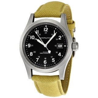 Hamilton Men's 'Khaki Field Mechanical Officer' Silvertone Watch