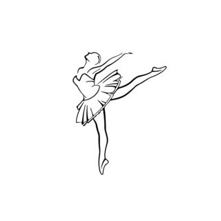 Ballet Dancing Girl Vinyl Wall Art