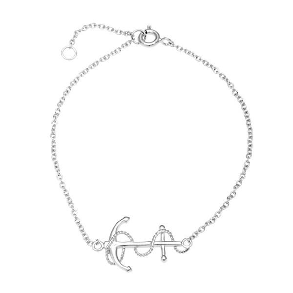 La Preciosa Sterling Silver Anchor Bracelet