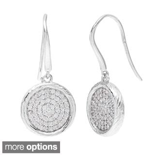 La Preciosa Sterling Silver Cubic Zirconia Dangling Earrings