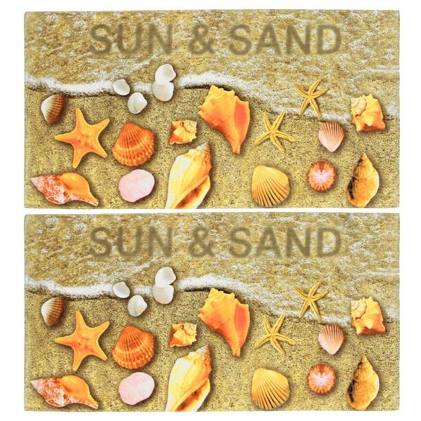 Sun and Sand Seashells Beach Towel (Set of 2)