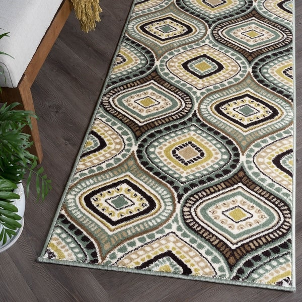Alise Rugs Caprice Contemporary Abstract Runner Rug - 2'3 x 7'7