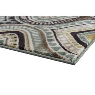 Alise Caprice Blue Contemporary Area Rug (2' x 3')