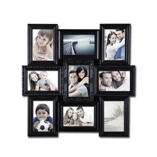 Black Plastic Wall Hanging 9-photo Collage Picture Frame