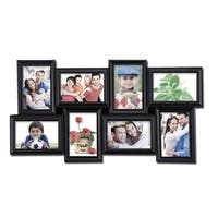 Black Plastic Wall Hanging 8-photo Collage Picture Frame